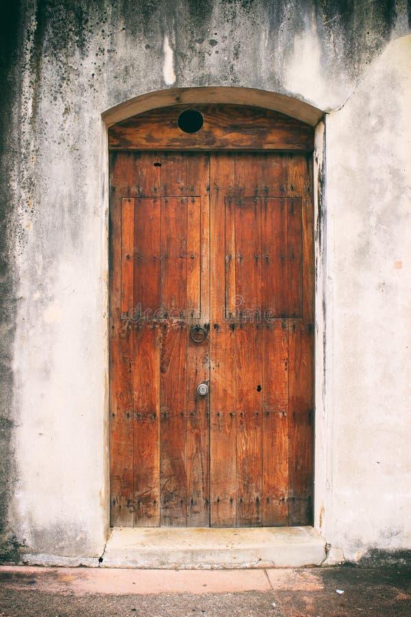 Door In Old San Juan, Puerto Rico. A dreamy antique door spotted in Old San Juan, Puerto Rico stock images