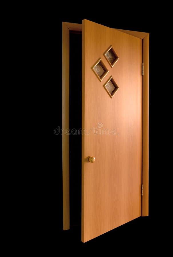 Free Door On Dlack Royalty Free Stock Image - 6306236