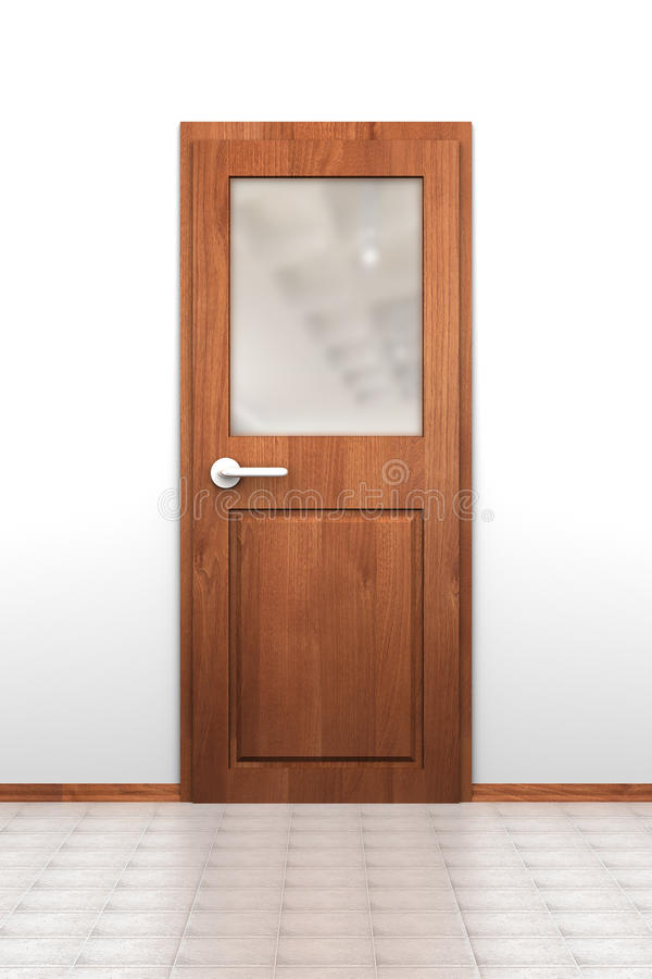 Door With Opaque Window Stock Illustration Illustration Of