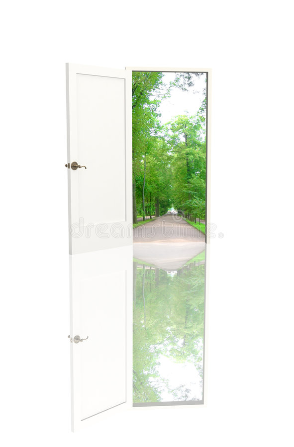 Door open in the real world royalty free stock photo