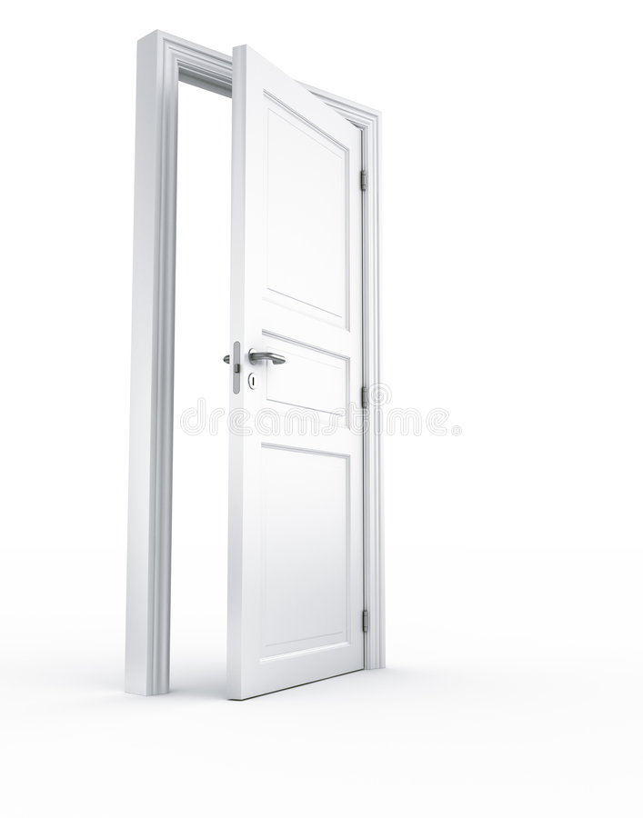 Door opening stock illustration