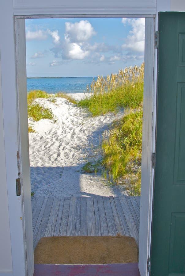 Download Door opening onto beach stock image. Image of property - 21820153