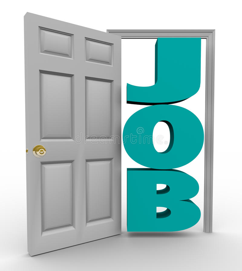 Download Door Opens To Word Job - Getting Hired Stock Illustration - Illustration: 19039947