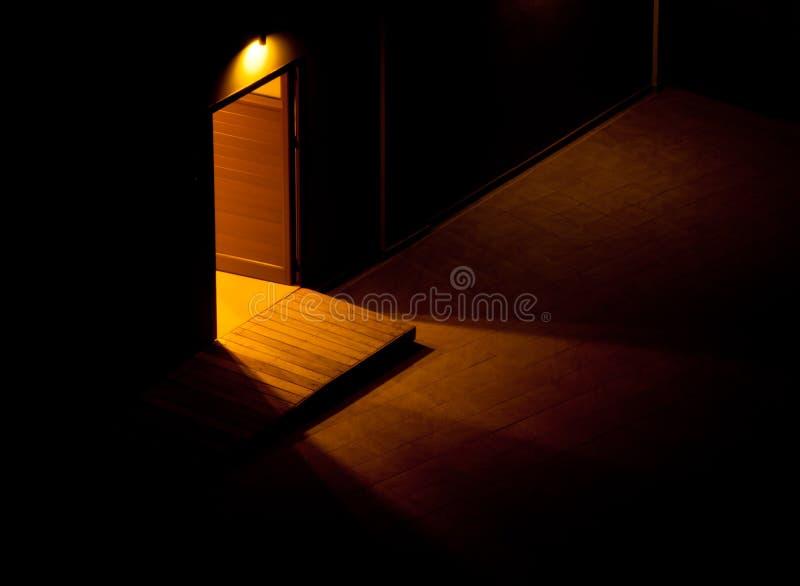 Door of opportunities stock photography