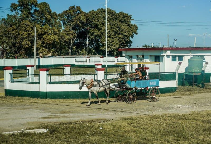 Door paarden getrokken carrige van Cuba, Trinidad royalty-vrije stock foto's