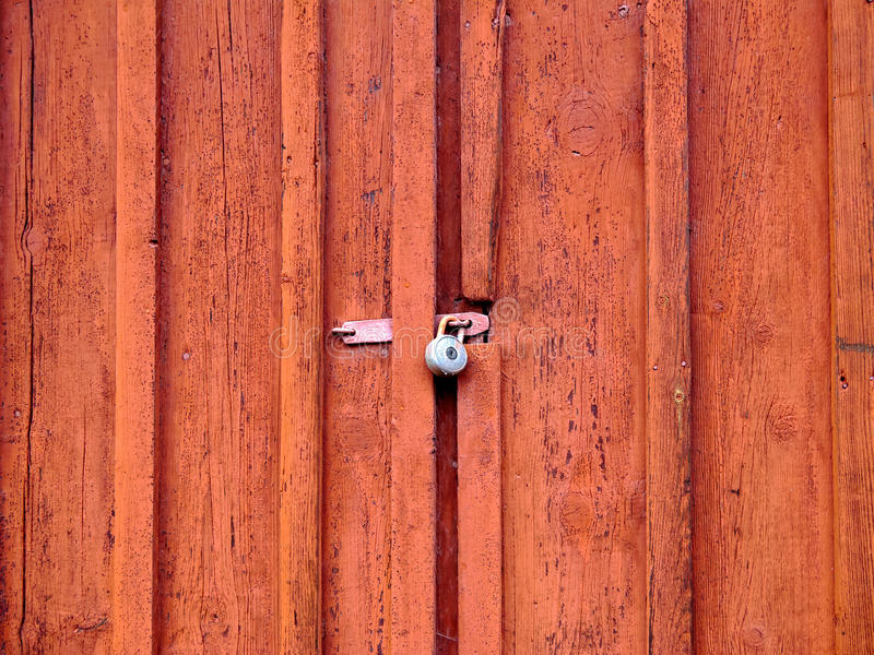 Download Door with padlock stock photo. Image of architecture - 27771534