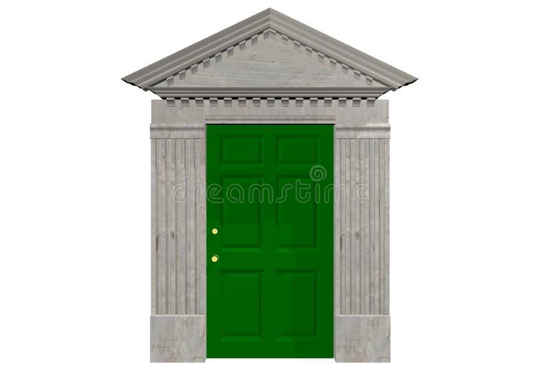 Download Door and Pediment stock illustration. Image of gray pediment - 48210721  sc 1 st  Dreamstime.com & Door and Pediment stock illustration. Image of gray pediment ... pezcame.com