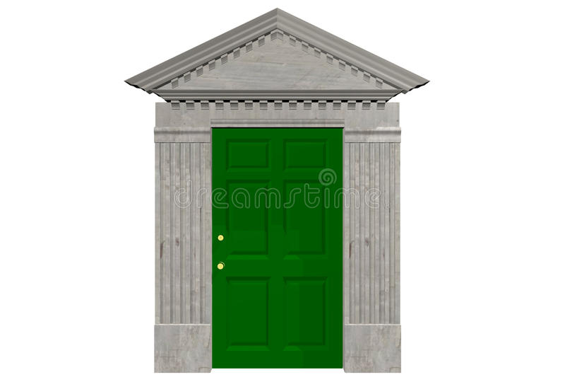 Download Door and Pediment stock illustration. Illustration of gray - 48210721  sc 1 st  Dreamstime.com & Door and Pediment stock illustration. Illustration of gray - 48210721