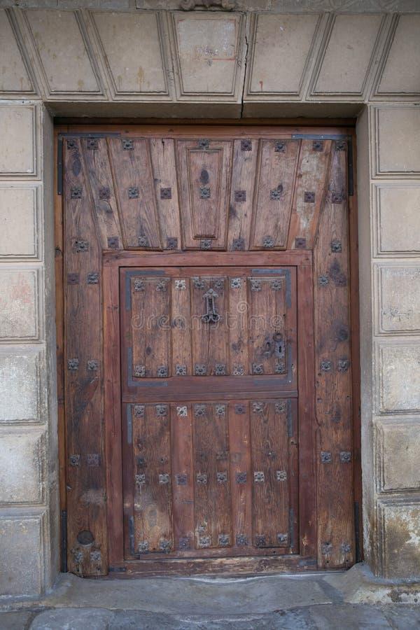 Door in Pedraza city centre. Pedraza city centre, Segovia stock photography
