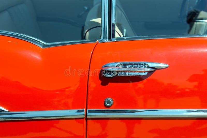 Door of retro car