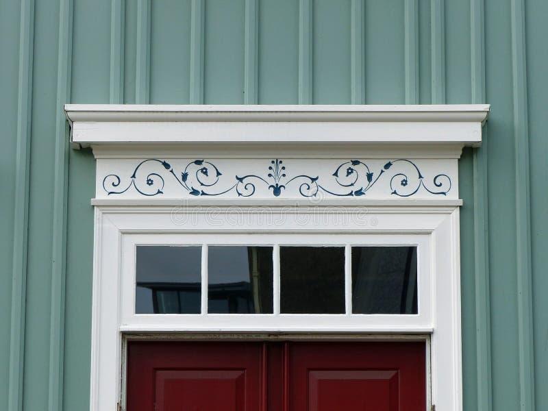 Door in Reykjavik, Iceland royalty free stock photo