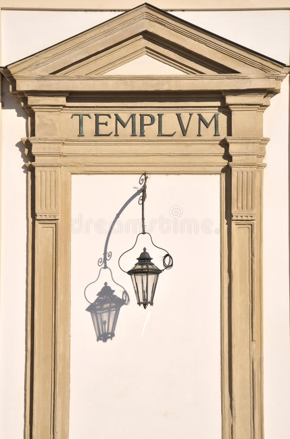 Door in Roman Style stock photography