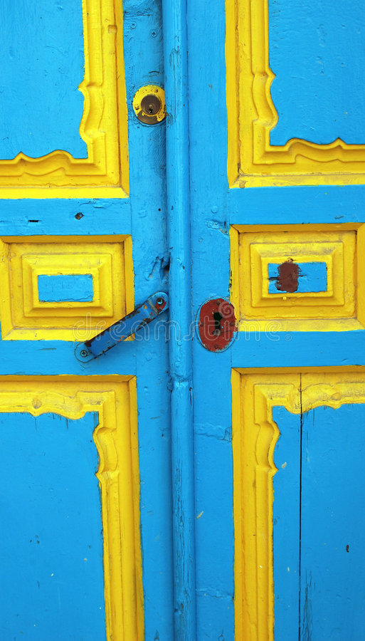 Door Of A Rustic Village Of Andalusia Stock Photo