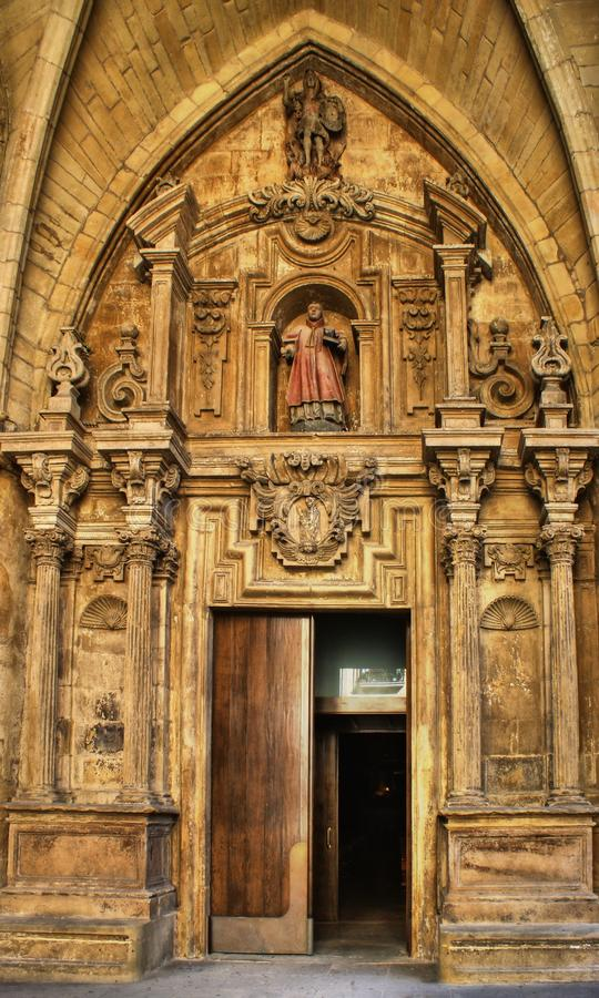 Download Door Of Saint Vicent Church Stock Photo - Image of church, brown: 27980172