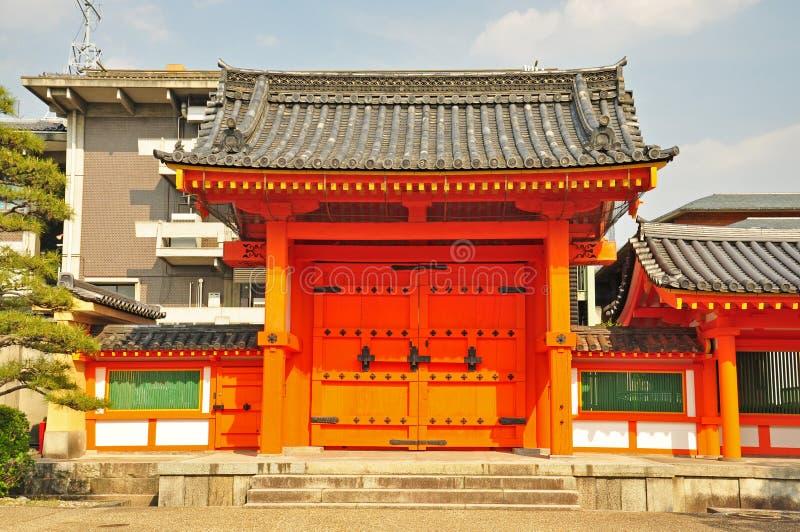 The door of Sanjusangendo Temple. In Kyoto, Japan stock photography