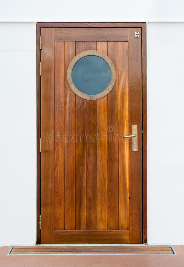Download Door on the ship stock image. Image of plank, round, circle - 26294837