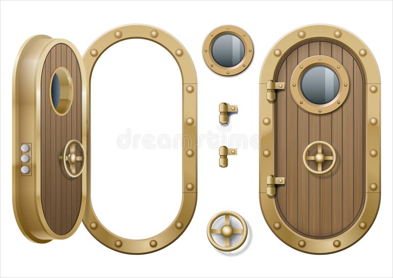 Door of the ship stock illustration