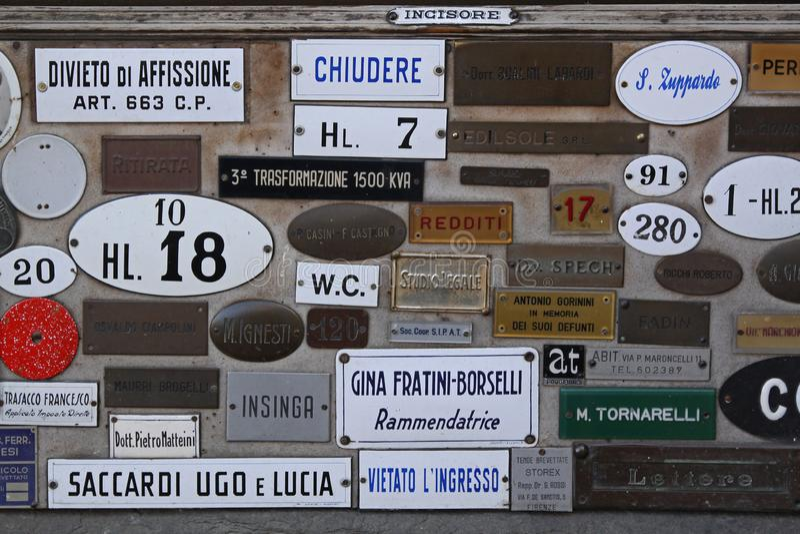 Door Signs stock photography