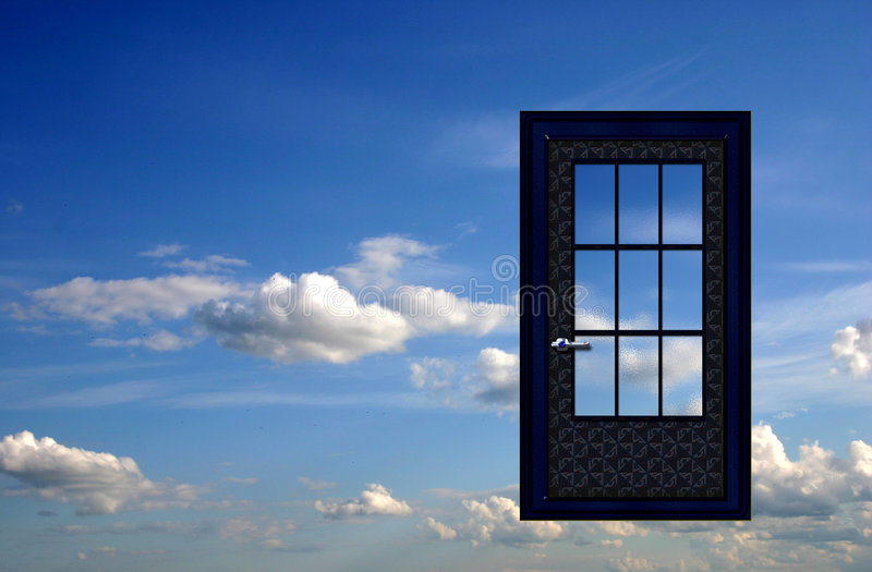 Door in the sky royalty free stock images