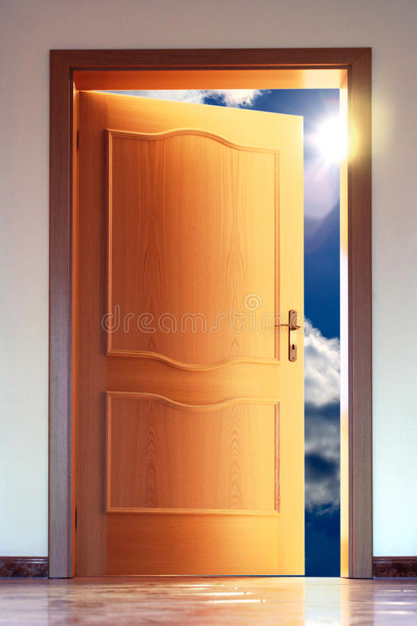 Download Door And Sky With Sum Stock Images - Image: 14767004