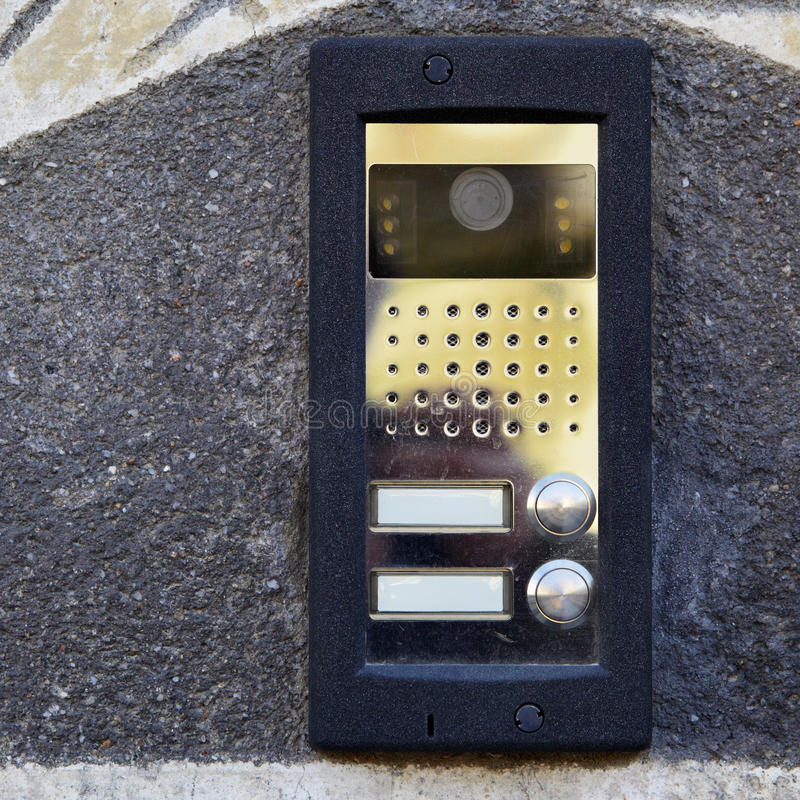 Download On-door speakerphone stock photo. Image of apartment - 11863440