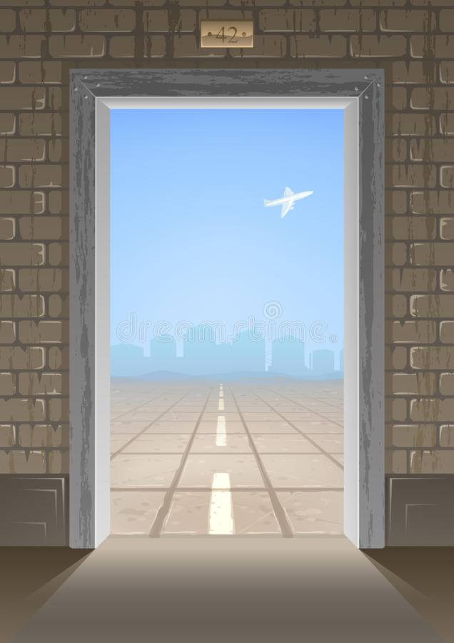 Door into summer royalty free illustration
