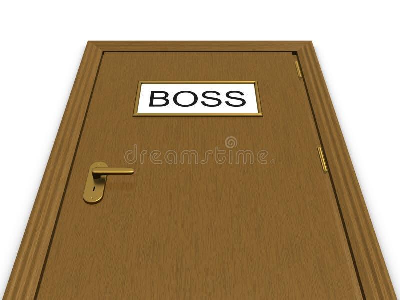 Door to boss office. 3d illustration stock illustration
