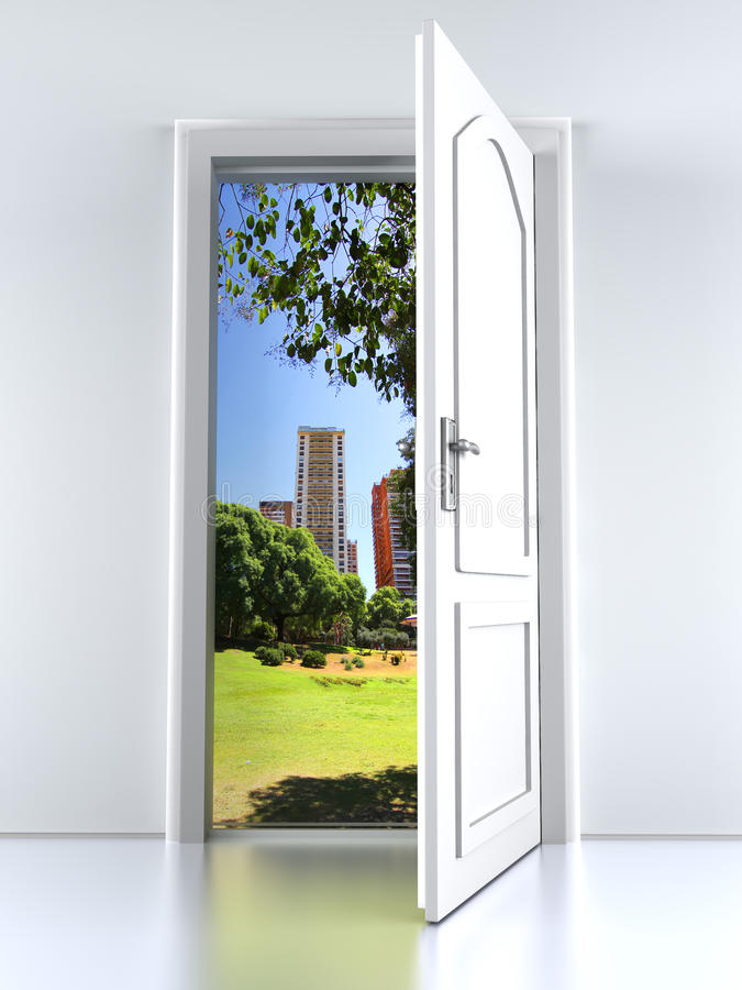 Door to the City stock illustration