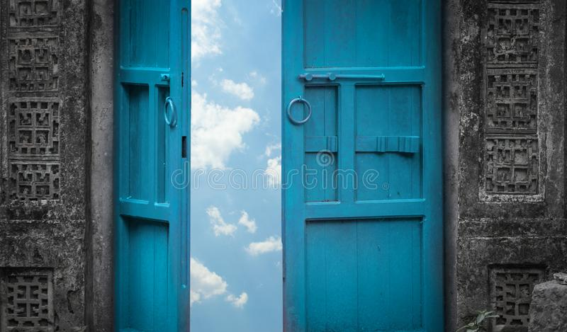 Door to heaven stock image