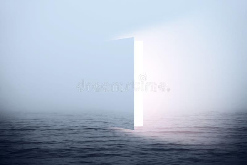 Door to heaven stock illustration