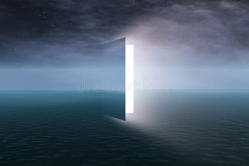 Door to heaven stock image