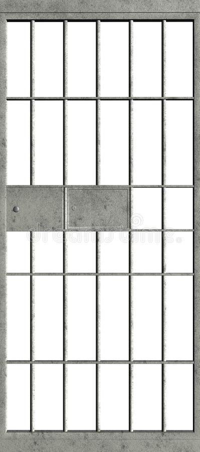 Jail Prison Cell Door Isolated stock photography