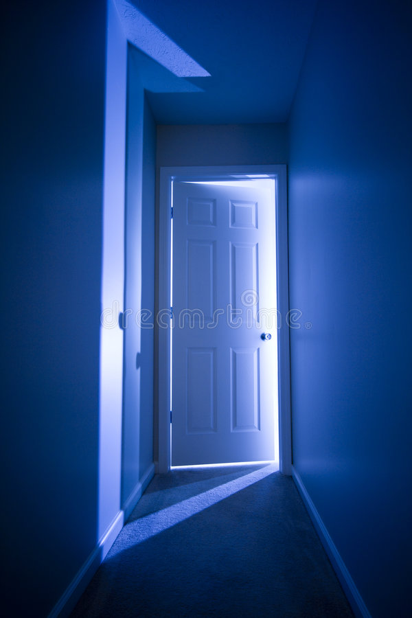 Door to the light. Conceptual image of a door opening to... Well, anything