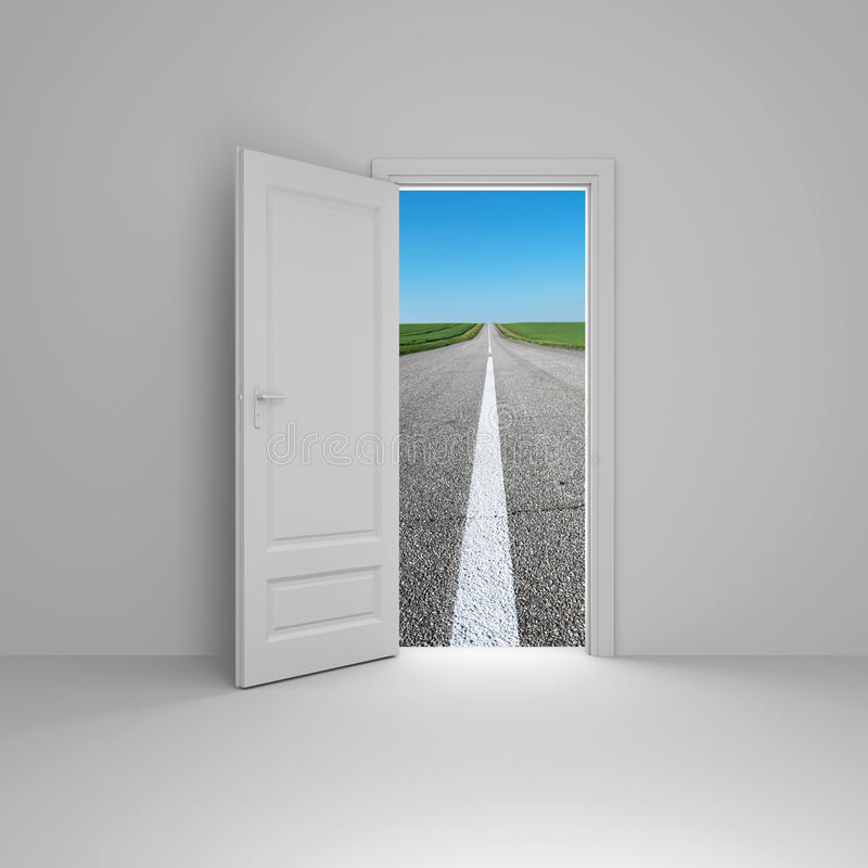 Download Door to new way stock illustration. Image of nature, home - 13399877