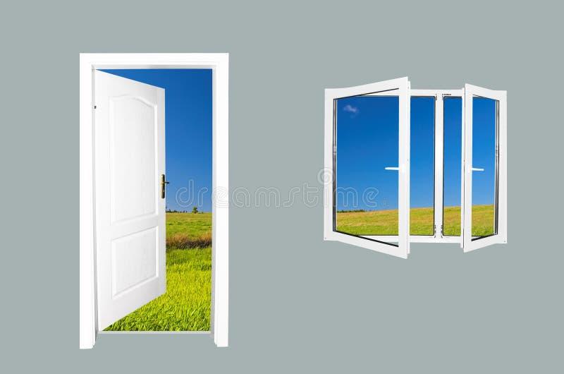 Door to new world stock photography