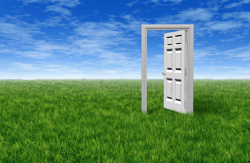 Download Door To Opportunity stock illustration. Image of behind - 23527209
