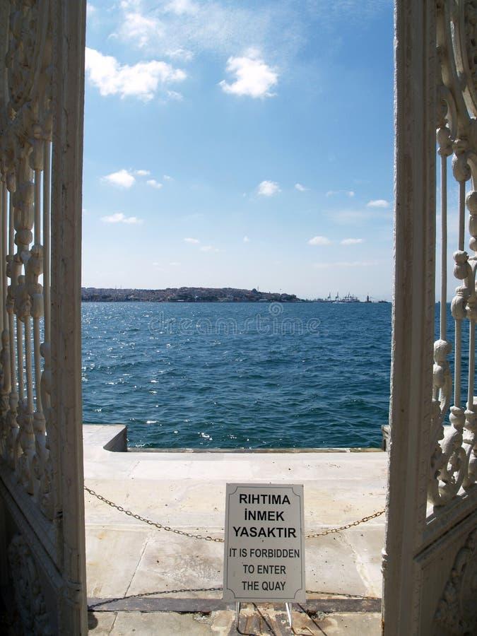 Door to the sea stock images