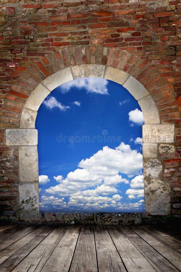 Door to sky royalty free stock image