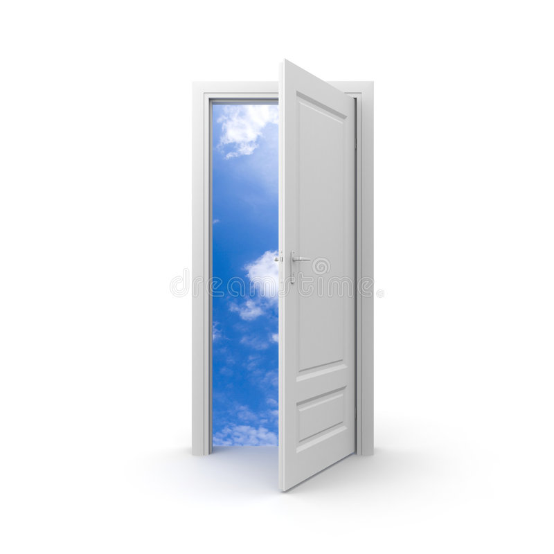 Door to sky royalty free illustration