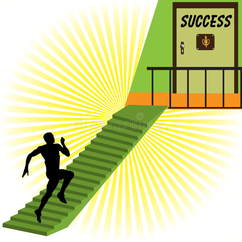 The door to success royalty free illustration