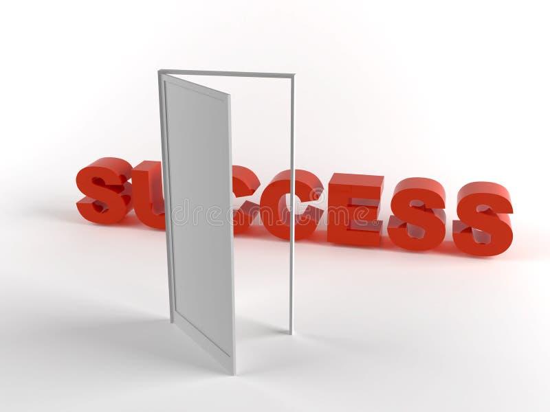 Door to success stock illustration