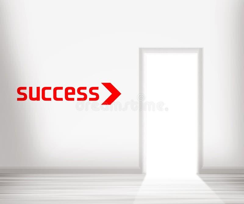 Door to Success royalty free illustration