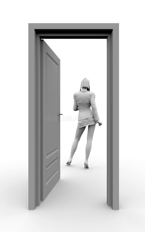 Door to success stock image