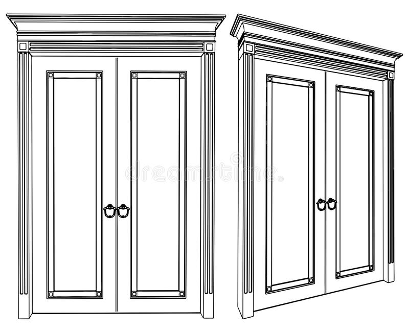 Download Door Vector 01 stock vector. Illustration of lines building - 17562674  sc 1 st  Dreamstime.com & Door Vector 01 stock vector. Illustration of lines building - 17562674