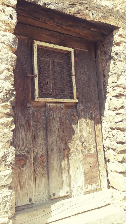 A door in the village royalty free stock photos