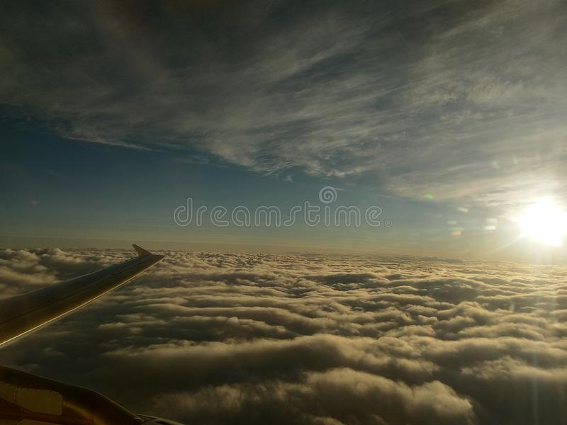 Door vliegtuig stock foto