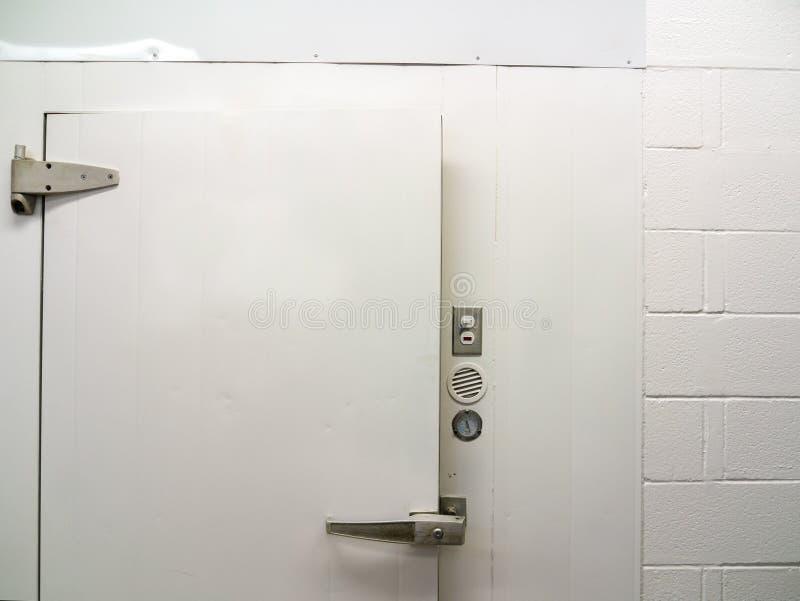 Door of Walk in cooler stock photos