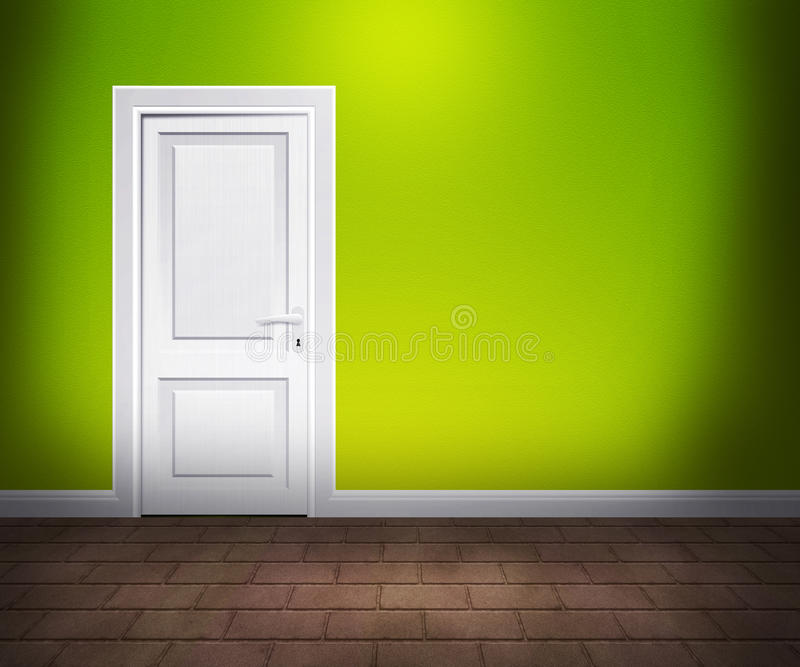 Door in the Wall Lime Interior royalty free illustration