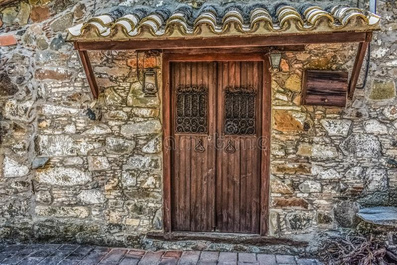 Door, Wall, Stone Wall, Facade royalty free stock image