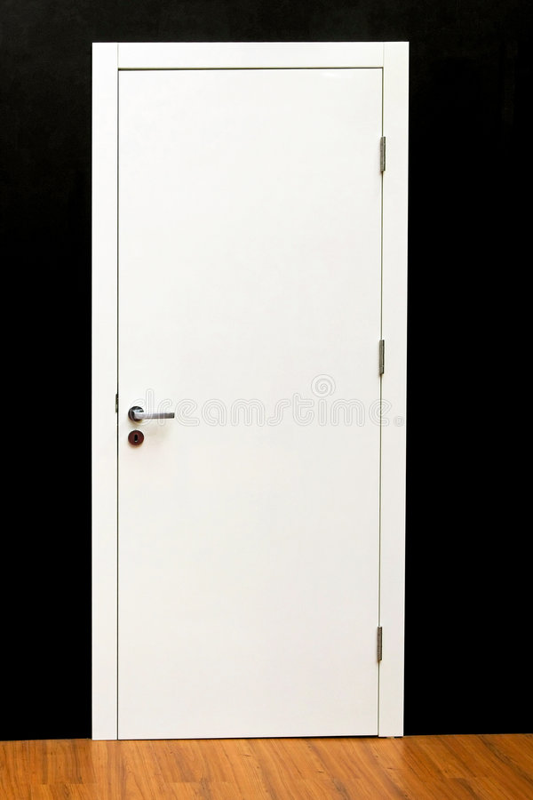 Door white stock photography